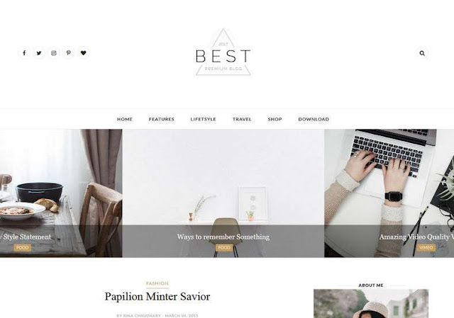Best Clean Blogger Theme