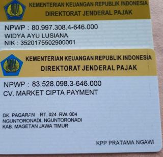 Foto Gambar Legalitas Market Pulsa CV. Market Cipta Payment