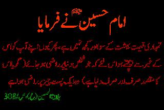 imam hussain about shahadat