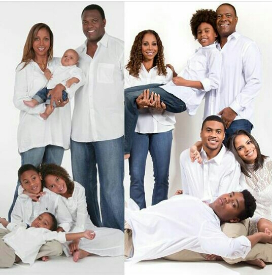 Family goals! Actress Holly Robinson recreates family photo 15 years later