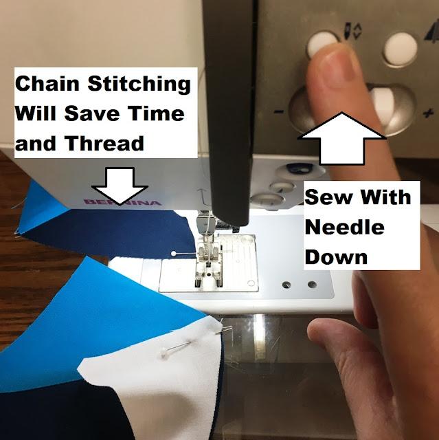 chain stitching on sewing machine