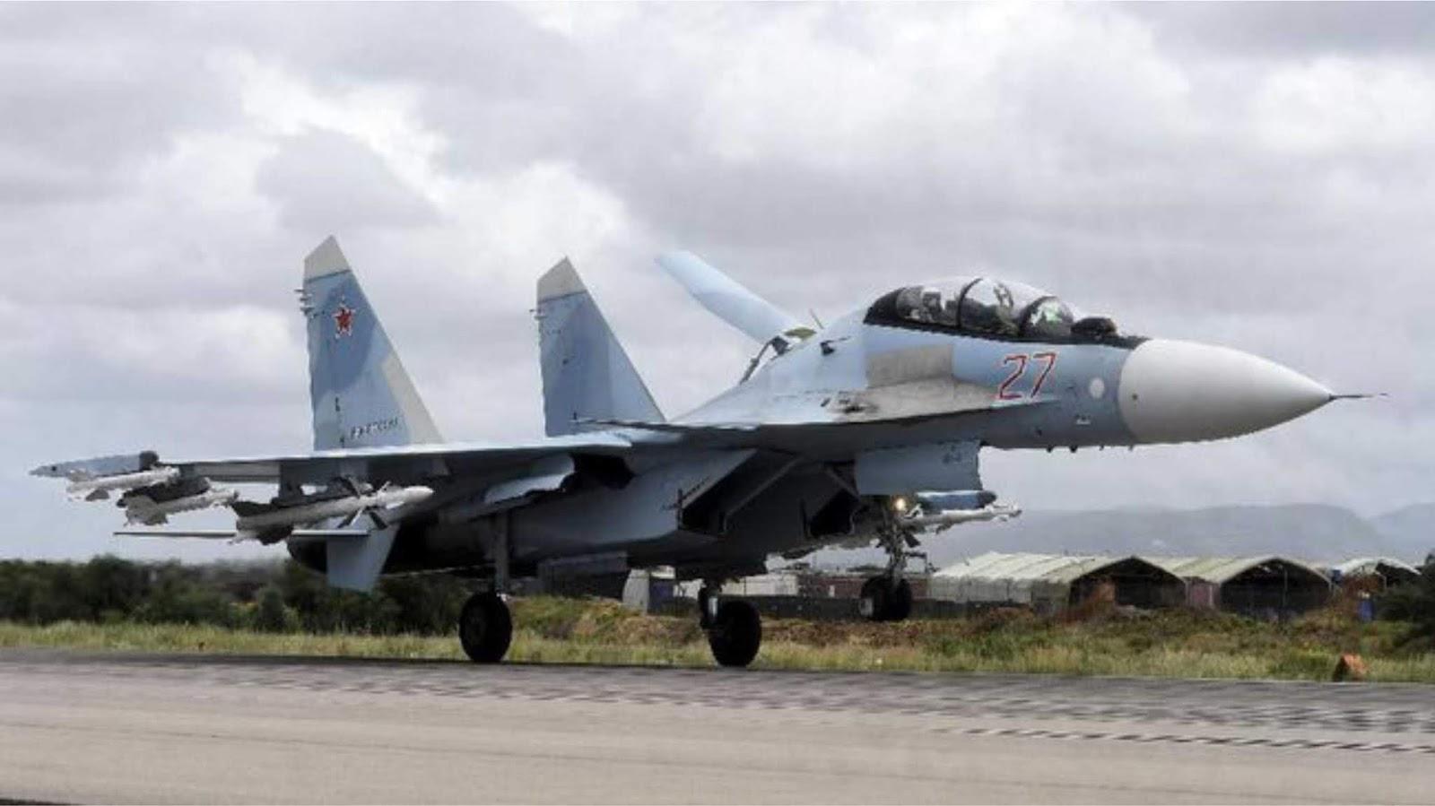 Pesawat Tempur Su27 TNI AU Kawal dan Daratkan Pesawat Tampa Ijin Terbang