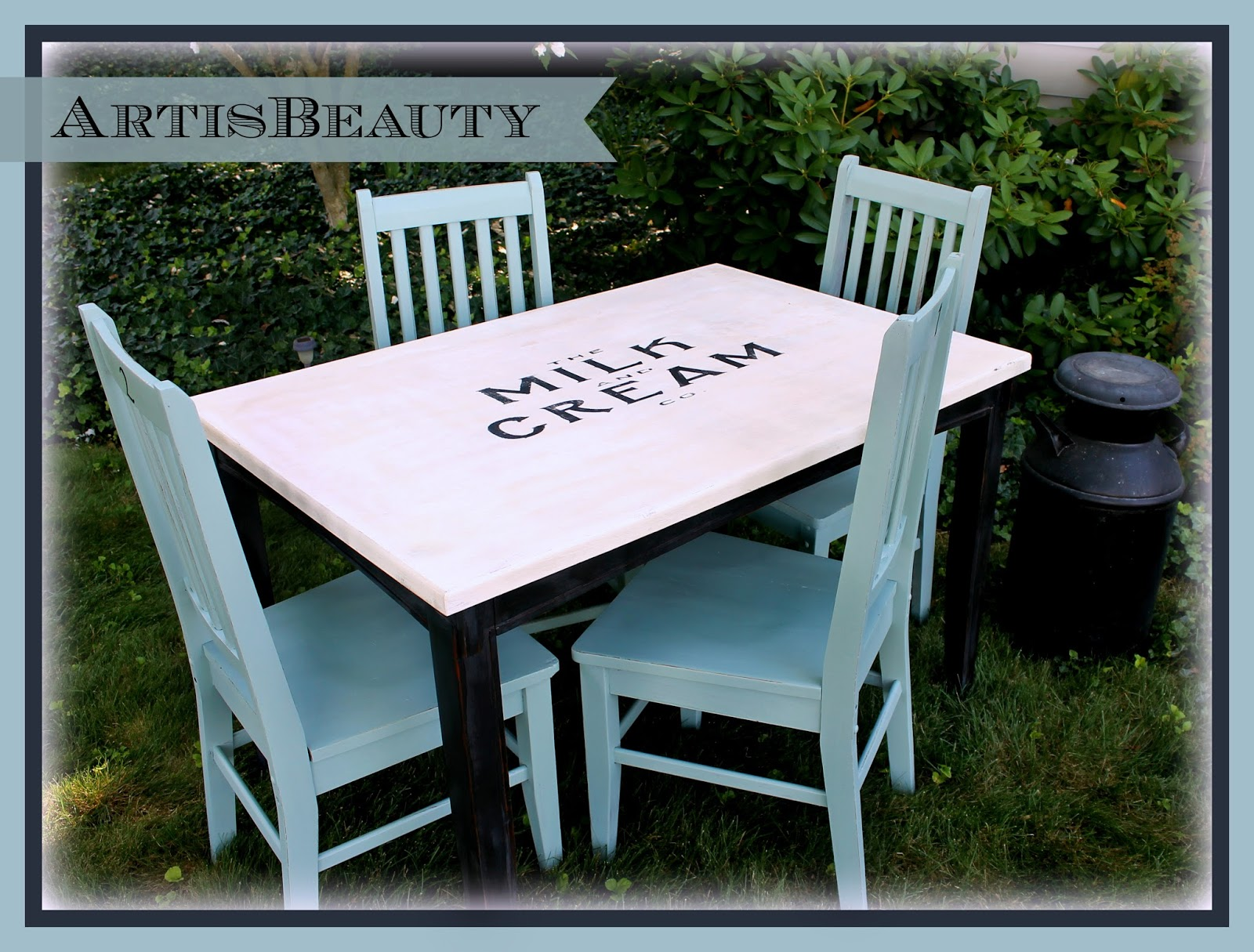 ART IS BEAUTY: Rescued Table and Chairs Turned Vintage Farmhouse ...