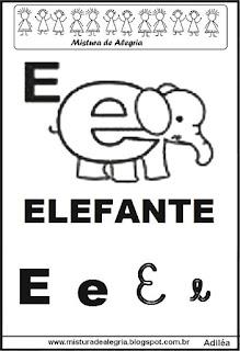Alfabeto ilustrado letra E
