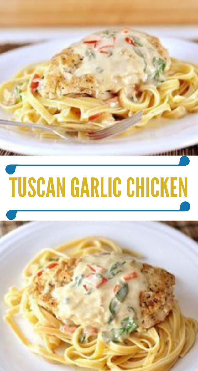 TUSCAN GARLIC CHICKEN #dinner #tuscan