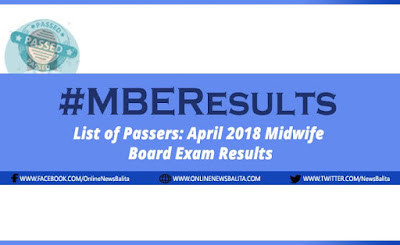 April 2018 Midwife Licensure Exam Results