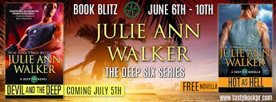Hot as Hell, a free prequel novella, from Julie Ann Walker's new Deep Six Series
