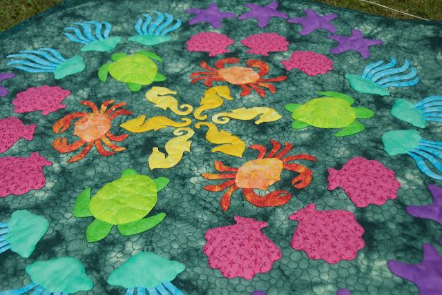 """Beach Extravaganza"" wall quilt"