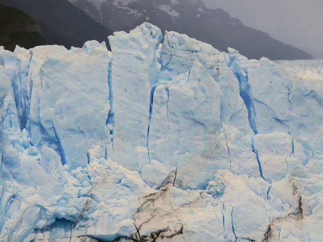 Close up image of the ice of Perito Moreno Glacier