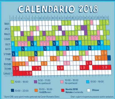 Calendario Leolandia 2018