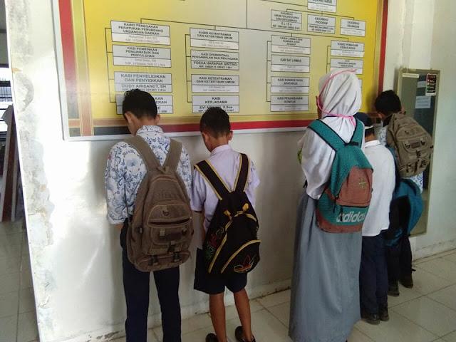 Para pelajar yang bolos sekolah dan terjaring razia personel Satpol PP Kota Tanjungbalai.