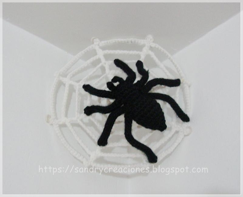 SanDryCreaciones: Araña y telaraña en crochet o ganchillo