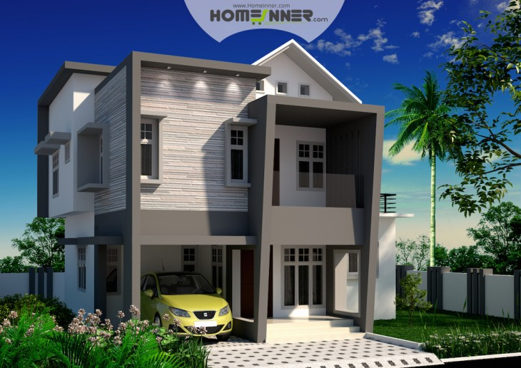 Small budget 3 bhk attractive indian home design in 4 cent plot indian home design free Home design and budget