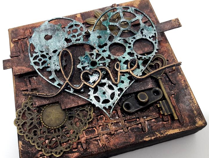 scrap and craft steampunk altered box with einat kessler