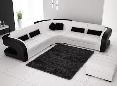 black and white sofa set designs for modern living room interiors (2)