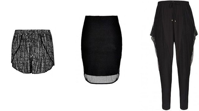 city chic clothes, city chic scoop shorts, city chic mesh skirt, city chic lace harem pant