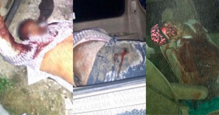 Elementos policíacos ejecutan a tres sicarios que dejaban descuartizados en Poza Rica, Veracruz.