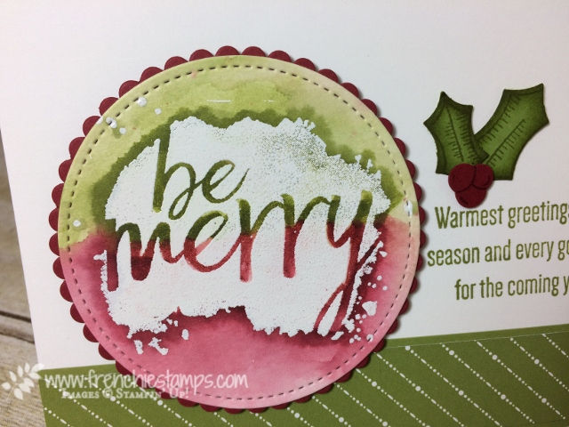 Everyday Good Wish, emboss Resist, Christmas Card, Stampin'Up!