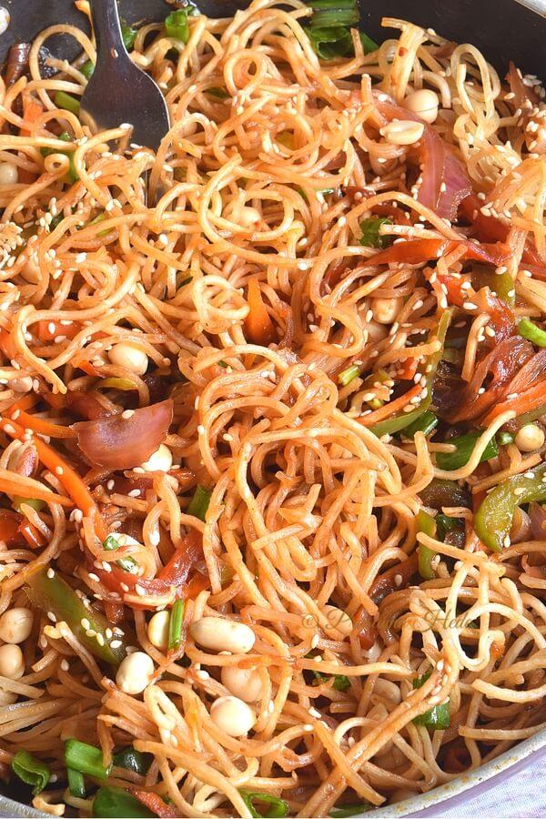 Closeup of chinese bhel