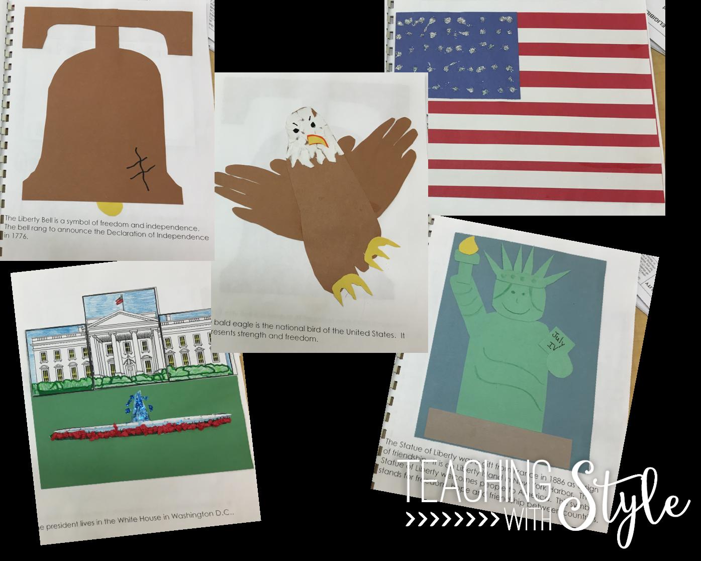Worksheet National Simbols Usa
