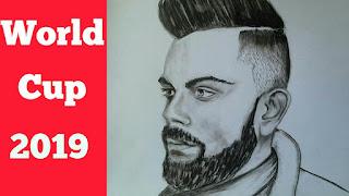 Drawing virat kohli