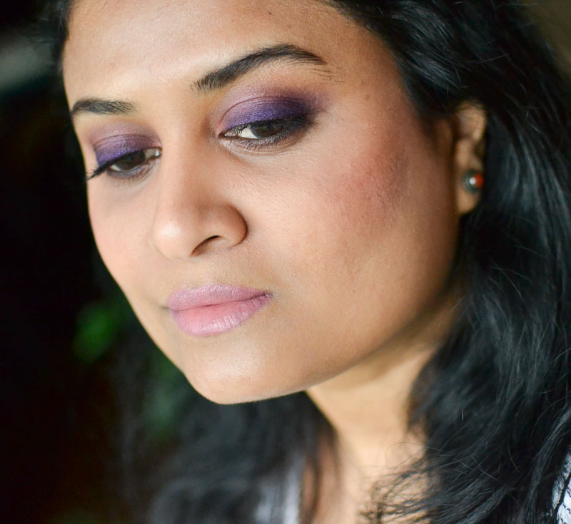 Easy Purple Smokey Eyes Makeup Look Tutorial for Brown Eyes
