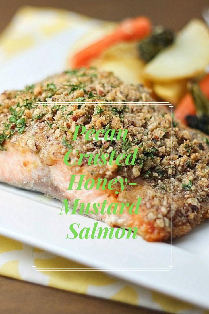 #Pecan #Crusted# Honey-Mustard #Salmon