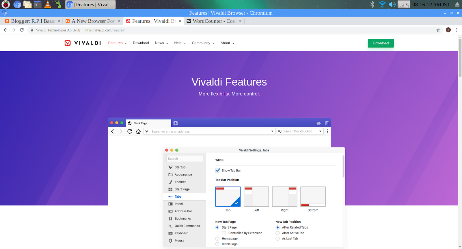 A New Browser For Raspbarry pi is out Today,Vivaldi - R P I Bazar