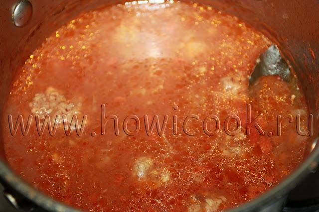 рецепт мясных фрикаделек в томатном соусе с пошаговыми фото