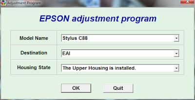 Resetter Epson Stylus C88
