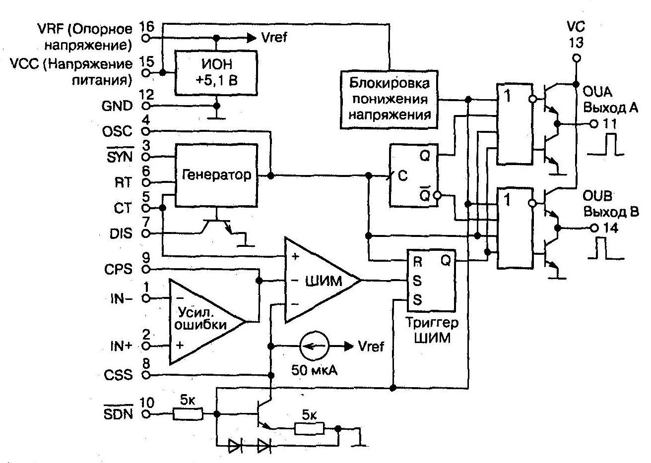 ka7500b в инверторе схема включения