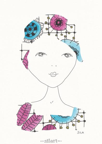 Louise, girl illustration