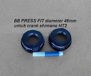 BB Press Fit Mortop diameter 46mm untuk crank shimano HT2