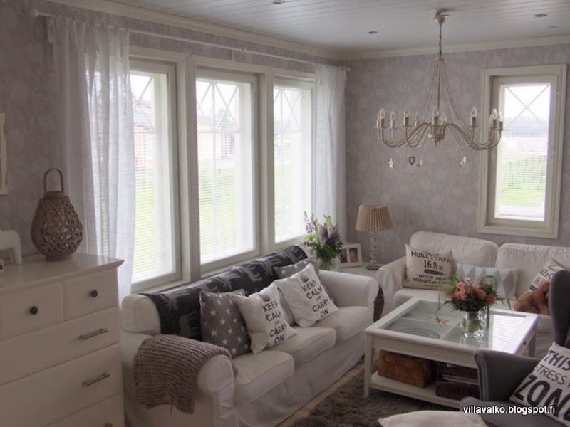 Olohuoneen verhot / Villa Valko Lifestyle sisustusblogi