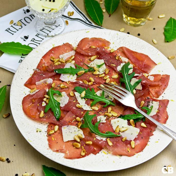 Carpaccio van bresaola, Italiaans gedroogd rundvlees