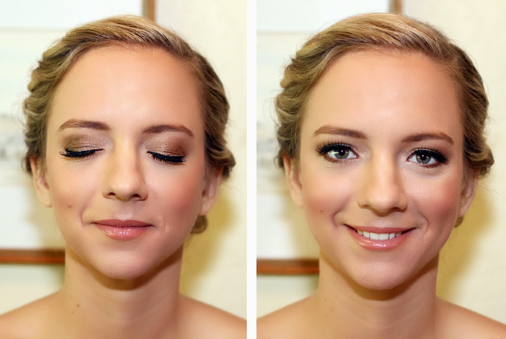 Beautiful Bridesmaid makeup- bronze & golden tone eye makeup. Makeup by Katie Dawson from Perle Jewellery & Makeup