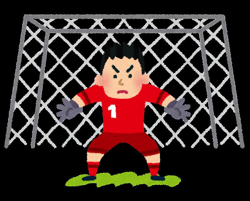 年賀状 年賀状 羊 フリー : サッカーゴールを守っている ...