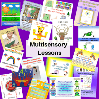 collage of different lessons that can be purchased at Good Sensory Learning