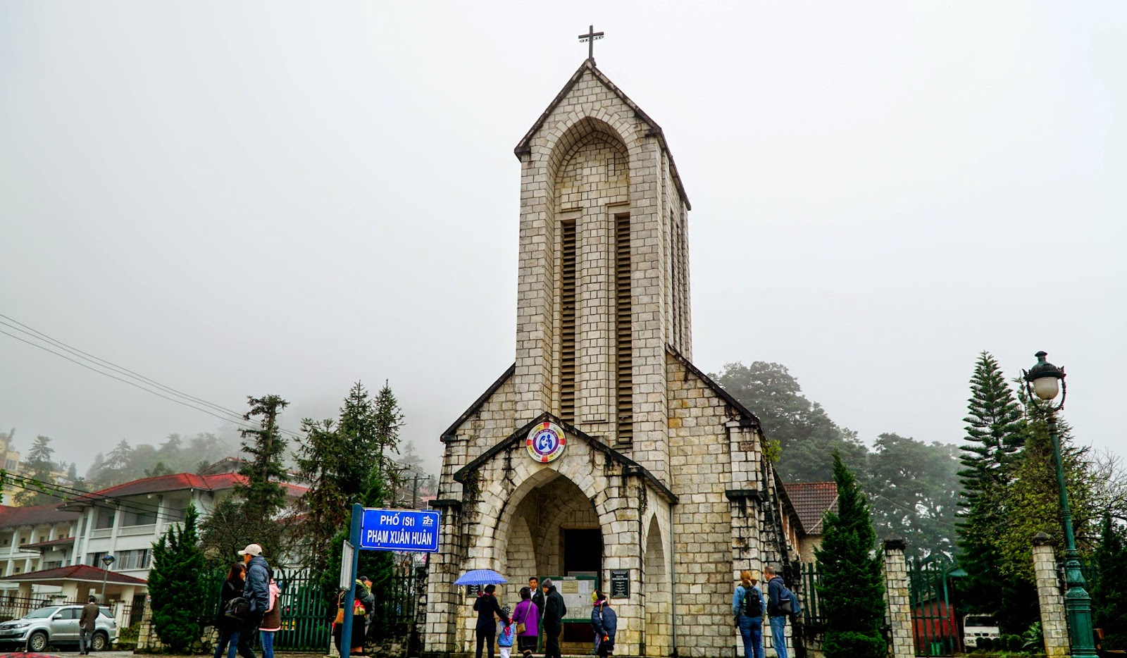 Passed by Sapa stone church on the way
