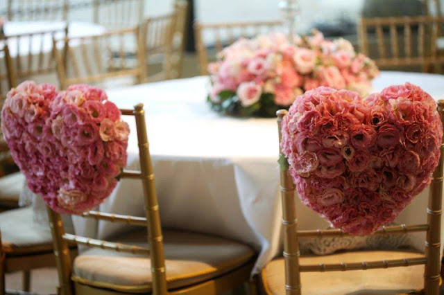 Como decorar o casamento com corações