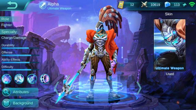 Cara Memakai hero Alpha