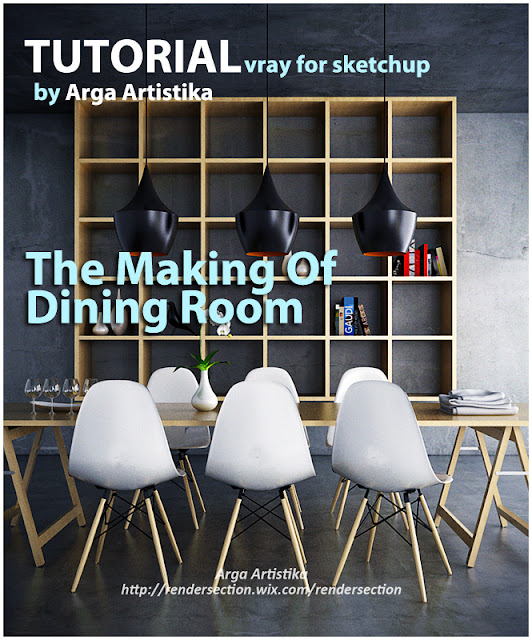 tutorial vray for sketchup making dining room and visopt