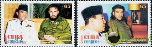 Kuba - Perangko Soekarno
