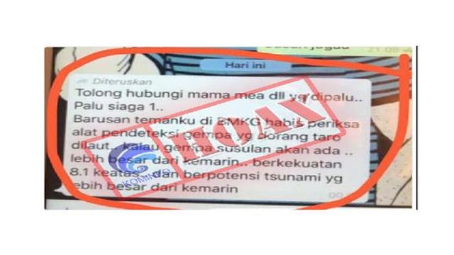Bantah Relawan FPI Gerak Cepat Evakuasi Korban Gempa Palu, Ini yang Dikatakan Kominfo!