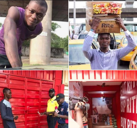 Good Hawker Who Gave Prisoners Free Gala In Traffic Is Now A Businessman (Photos)