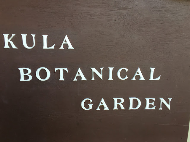 Kula Botanical Garden sign