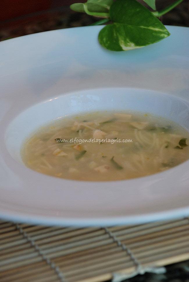 Sopa de coliflor estilo gaditano