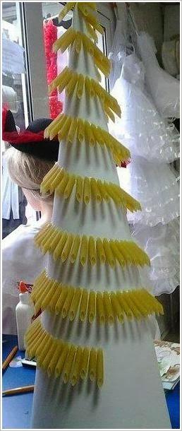 елочка из макарон