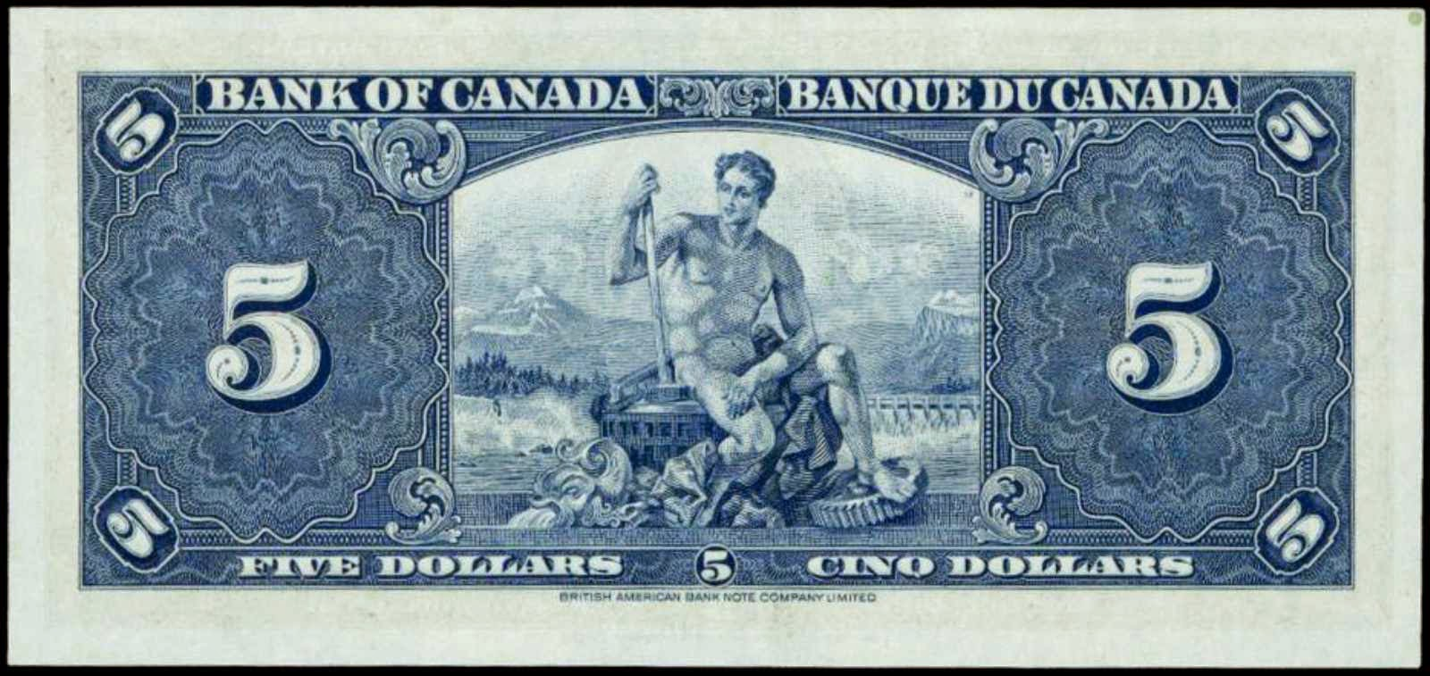 1937 Canadian 5 Dollar Bank Note