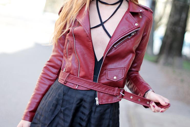 body, biker jacket, midi skirt for spring 2017